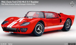 Exoto Ford Gt40 Mk Ii And039x-1and039 Roadster 1966 Shelby American Sebring Prototype