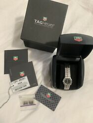 Tag Heuer 29mm Alter Ego Wp1310 Ladies Stainless Steel Black Dial Box Papers