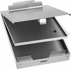 Blue Summit Supplies Aluminum Dual Storage Clipboard, 2 Compartments, Large For