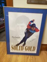 Autographed Framed 1994 Norway Dan Jansen Olympic Gold Medalist Picture 30 X 41