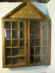 Vintage quot;My Collectionquot; Wall Hanging Display Case w Doors Curio Enesco