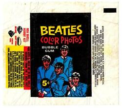 Two Bubble Gum Wax Wrappers Topps 1964 Usa The Beatles Trading Picture Cards
