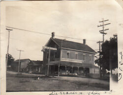 Old Photograph-b.r.brown General Store And Post Office + Camp-lansing
