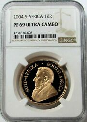 2004 Gold South Africa 1 Oz Krugerrand Ngc Proof 69 Ultra Cameo 3,492 Minted