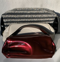 Lot of 3 Lancome Makeup Cosmetic Travel Bag Pouch Zipper New $10.99