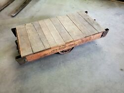 Vintage Globe Vise And Truck Grand Rapids Mich. Factory Cart W Cast Iron Wheels