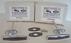1926 1927 Model T Ford Outside Door Handle Set With Pads And Screws Coupe And Tudor