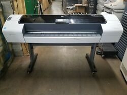 Hp Designjet T1120 Large Format Plotter With Inks Powers On Showing A Jam