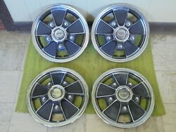 67 68 69 70 71 72 Chevrolet Mag Hub Caps 14 Set Of 4 Wheel Covers Chevy Hubcaps