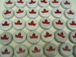100 Molson Ale Beer Bottle Caps White Red Maple Leaf No Dents C Store Free Shpg