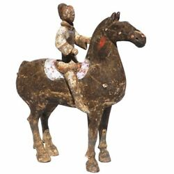 Chinese Han Dynasty Terracotta Horse And Rider