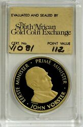 1978 Gold South Africa Proof 1oz 30th Anniv National Party Exchange 112 Pts Coin