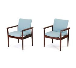 Vintage Pair Of Finn Juhl Diplomat Armchairs In Rosewood. 1960s. Free Shipping