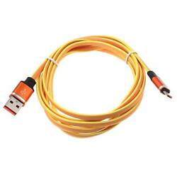 For Samsung Galaxy J1 J3 J7 6ft Usb Cable Orange Microusb Charger Cord Power