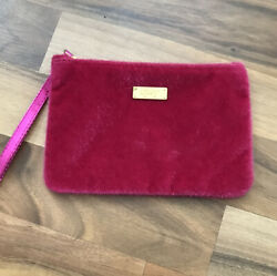 Pink IPSY furry Cosmetic Bag For Purse or Gym Bag Zip Top $11.99
