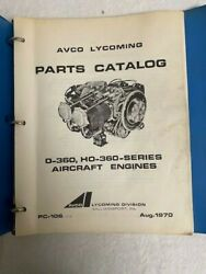 1970 Avco Lycoming 0-36 H-360 Series Parts Catalog