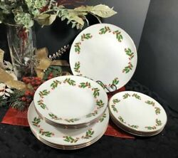 Andrdquochristmas Hollyandrdquo Holiday Dishes Kashima All The Trimmings - 12 Dinner Pieces