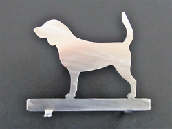 Beagle Dog Mailbox Topper Steel Metal Plaque Silhouette Bare Metal No Paint.