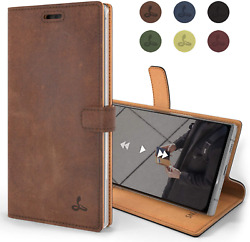 Samsung Galaxy Note 10 Plus Case Genuine Leather Wallet Viewing Stand Card Slot