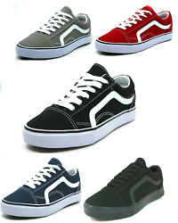 Men#x27;s Classic Lace Up Canvas Shoes Athletic Skate Sneakers Casual Fashion