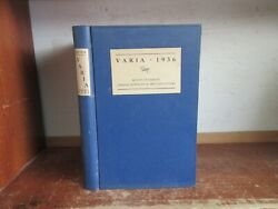 Old BOSTON UNIVERSITY COLLEGE OF ARTS LETTERS Book 1936 VARIA POETRY STORY