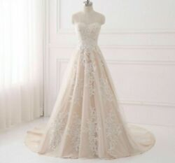 Bridal Gown Wedding Dress Lace Up Back Sheer Neck Sleeveless Bride Dresses Gowns