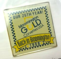 Bloomington Gold 1998 Corvette Show Back To Bloomington Hat Pin Nos Mid America