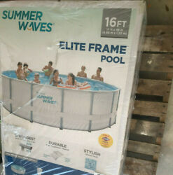 Summer Waves Elite 16and039 X 48 Above Ground Swimming Pool Set Brand New Fast Ship