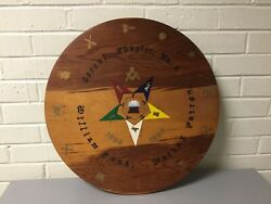 Vintage Masonic Plaque Cereal Chapter No.2 Circular Wall Hanging Plaque