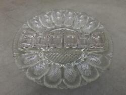 Le Smith Clear Cut Deviled Egg Plate With 6 Salt Cellars Mint Condition