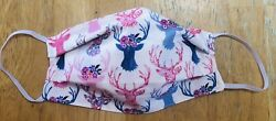 METALLIC DEER Inspired 100% Cotton Fabric Face Mask NEW Double Sided Reversible $5.00