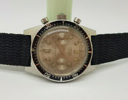 Vintage Avia Marino Chronograph Diver Grey Dial Manual Wind Manand039s Watch