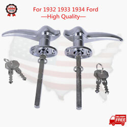 Locks Outside Locking Door Handles For 1932 Ford 3 Window 1933 1934 For Matching