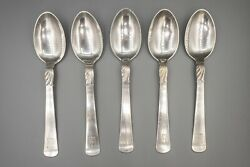 Jens Andersen Kontesse Countess Sterling Silver Place Oval Soup Spoon 7 Set Of5