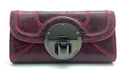 MIMCO STAND OFF LARGE LEATHER WALLET IN SHIRAZ STANDOFF BNWT RRP$229