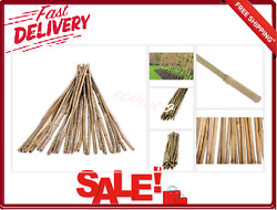 Bamboo Poles Stakes 25-pack Natural 1/2 In X 4 Ft Stick For Plants Curtain Rods
