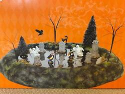 Department 56 Halloween Animated Ghosts In The Graveyard - Ghosts Move
