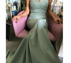 Evening Dress Lace Gowns Mermaid Party Clothes Women#x27;s One Shoulder Prom Dresses $182.99