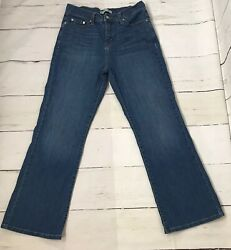 Womens Jeans Bootcut 512 Perfectly Slimming Whisker Sequins Pocket Size 10