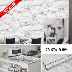 9.8ft Marble Contact Paper Self Adhesive Stick Wallpaper Pvc Kitchen Countertop