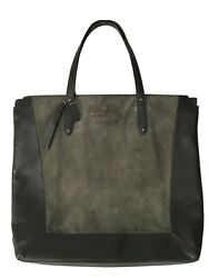 Coach Women's Large Green Leather Suede Tote $57.95