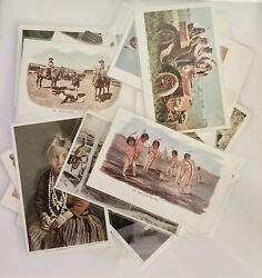 Lot Of 26 Antique Post Cards Ca. 1900 Mostly Native American. Unposted 2362.