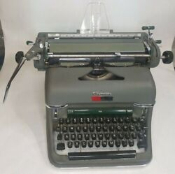 Typewriter Olympia De Luxe 7.6 Manufactured In Germany In The Early 50s.
