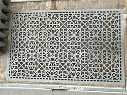 Reclaimed Cast Iron Church Floor Vent Grill Grille Grate Architectural Gothic