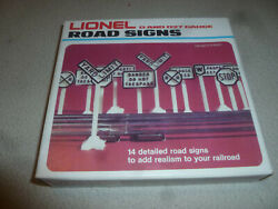 Boxed Lionel Road Signs 6-2180 Cib Nos 0 And 027 Gauge Scale Railroad Detailed Gm