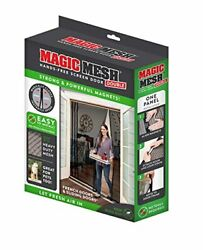 Mesh Free Magnetic Screen Double Hands Fits French And Sliding Doors 75 In X 83 In