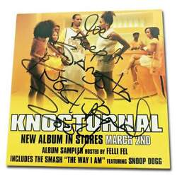 Knocturnal Authentic Signed The Way I Am Cd Booklet W/certificate Autographed