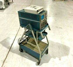 Tektronix 7704a Oscilloscope And Model 3 Cart With Probes Plus Owners Manual