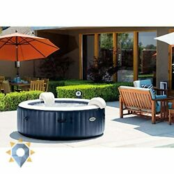 Portable Bubble Jet Spa Inflatable Round 6 Person Bath Hottub Home Cover New Set