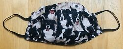 BORDER COLLIE Inspired 100% Cotton Fabric Face Mask NEW Double Sided DOG